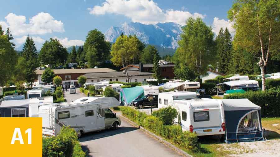 Alpen Caravanpark Tennsee Komforthauptplatz