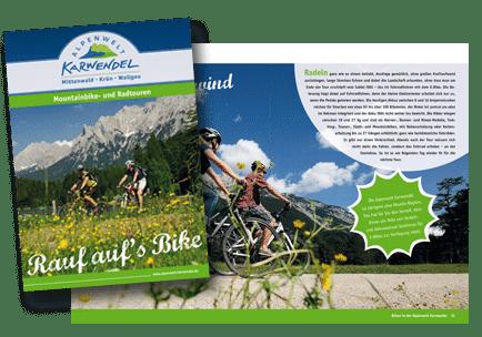 Broschuere Bikebroschuere Karwendel