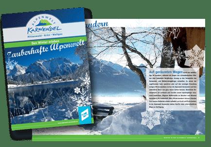 Broschuere Winterbroschuere Karwendel
