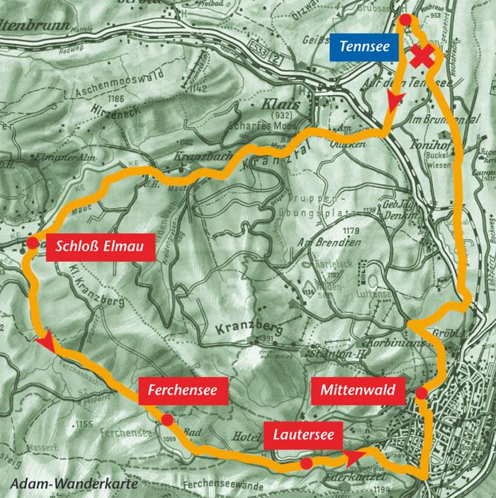 Karte Elmau Rundweg