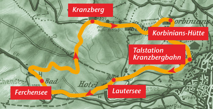 Karte kranzberggebiet