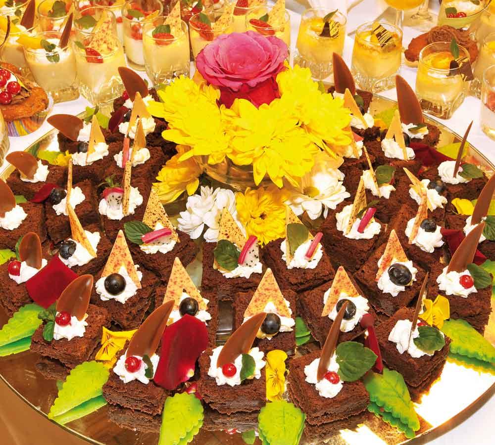 Silvesterbuffet Desserts
