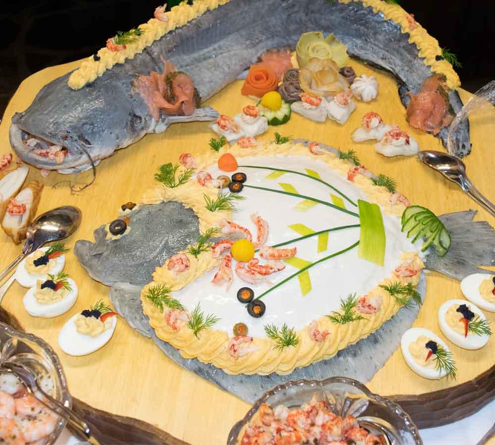 Silvesterbuffet Fisch