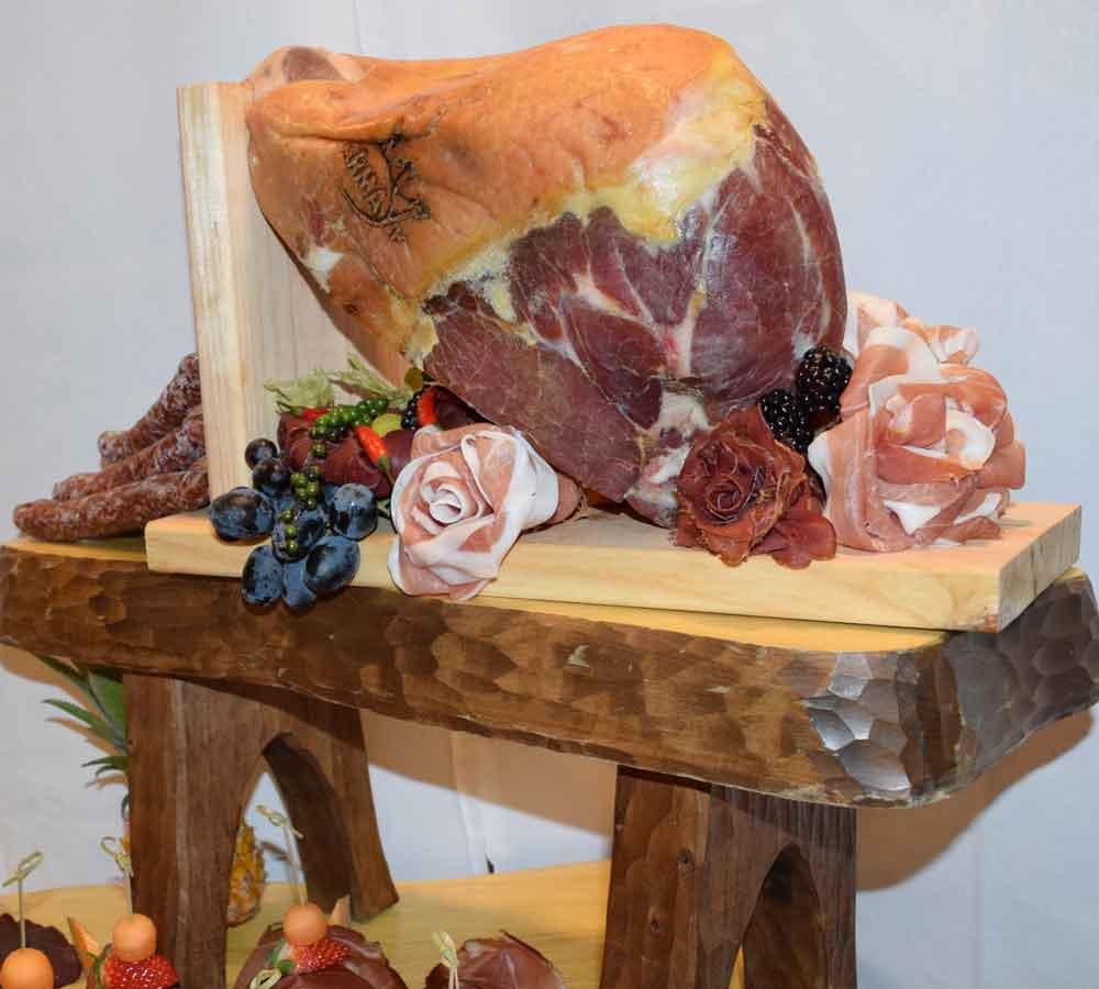 Silvesterbuffet Fleisch Schinken