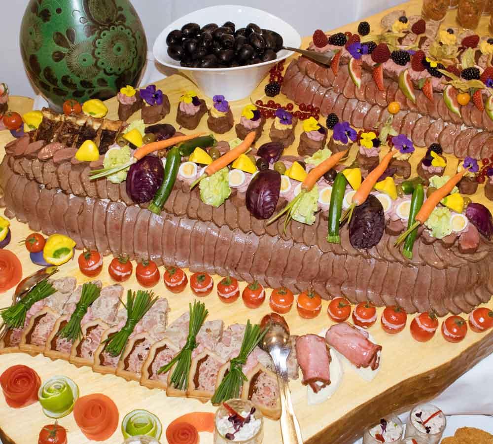 Silvesterbuffet Fleisch