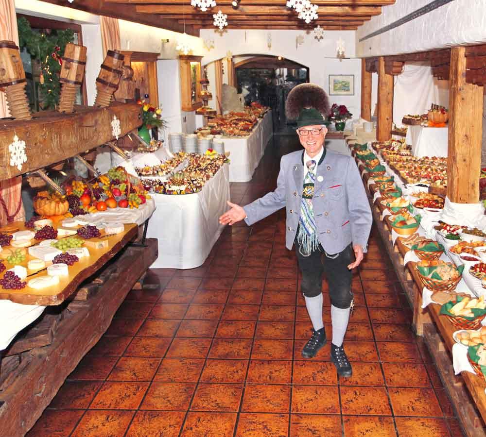 Silvesterbuffet Herr Zick